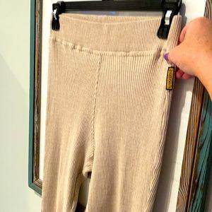 Armani Ribbed Knit Leggings